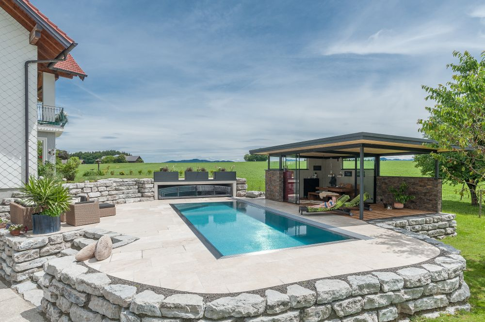 Edelstahlpool poolhaus und terrassen berdachungen fotos for Pool edelstahl