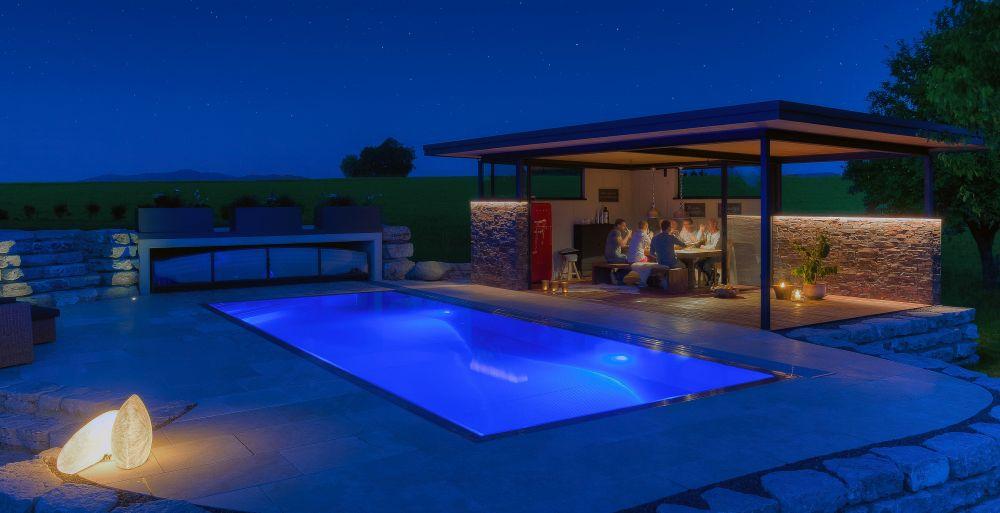 edelstahlpool poolhaus und terrassen berdachungen fotos. Black Bedroom Furniture Sets. Home Design Ideas