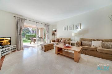 Wohnzimmer eines Apartmens in Santa Ponsa
