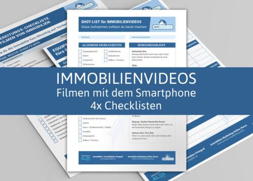 Immobilienvideos filmen mit dem Smartphone, 3x Checklisten